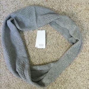 Eileen Fisher NWT Gray 100% Merino Wool Scarf